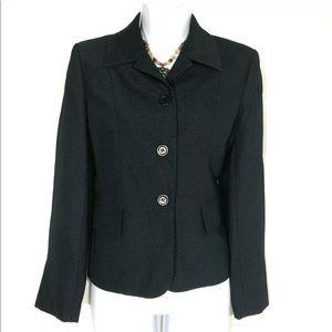LKNW Le Suit Size 6P Womens Blue Blazer Jacket